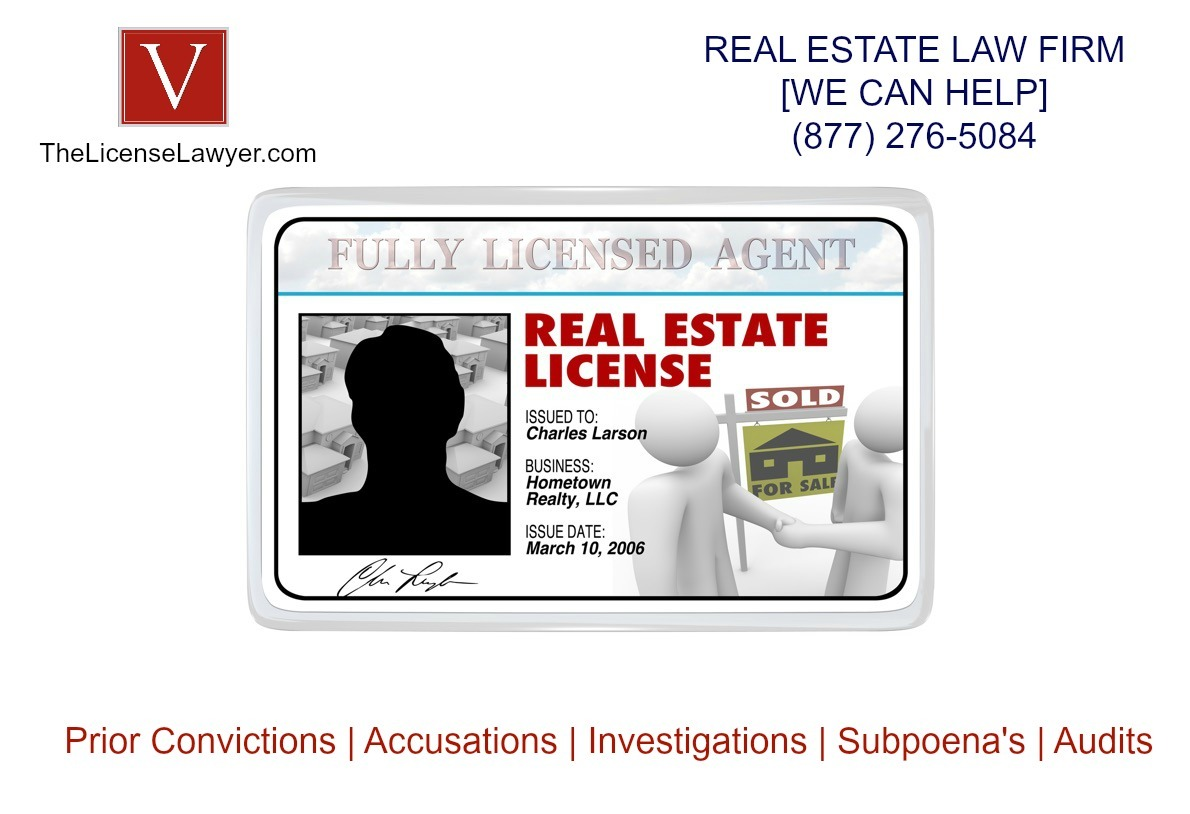 real estate license criminal background