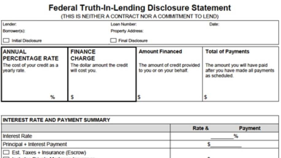 truth in lending act case essay Truth in lending act summary the truth in lending act (tila) of 1968 is united states federal law designed to promote the informed use of consumer credit, by requiring disclosures about its.