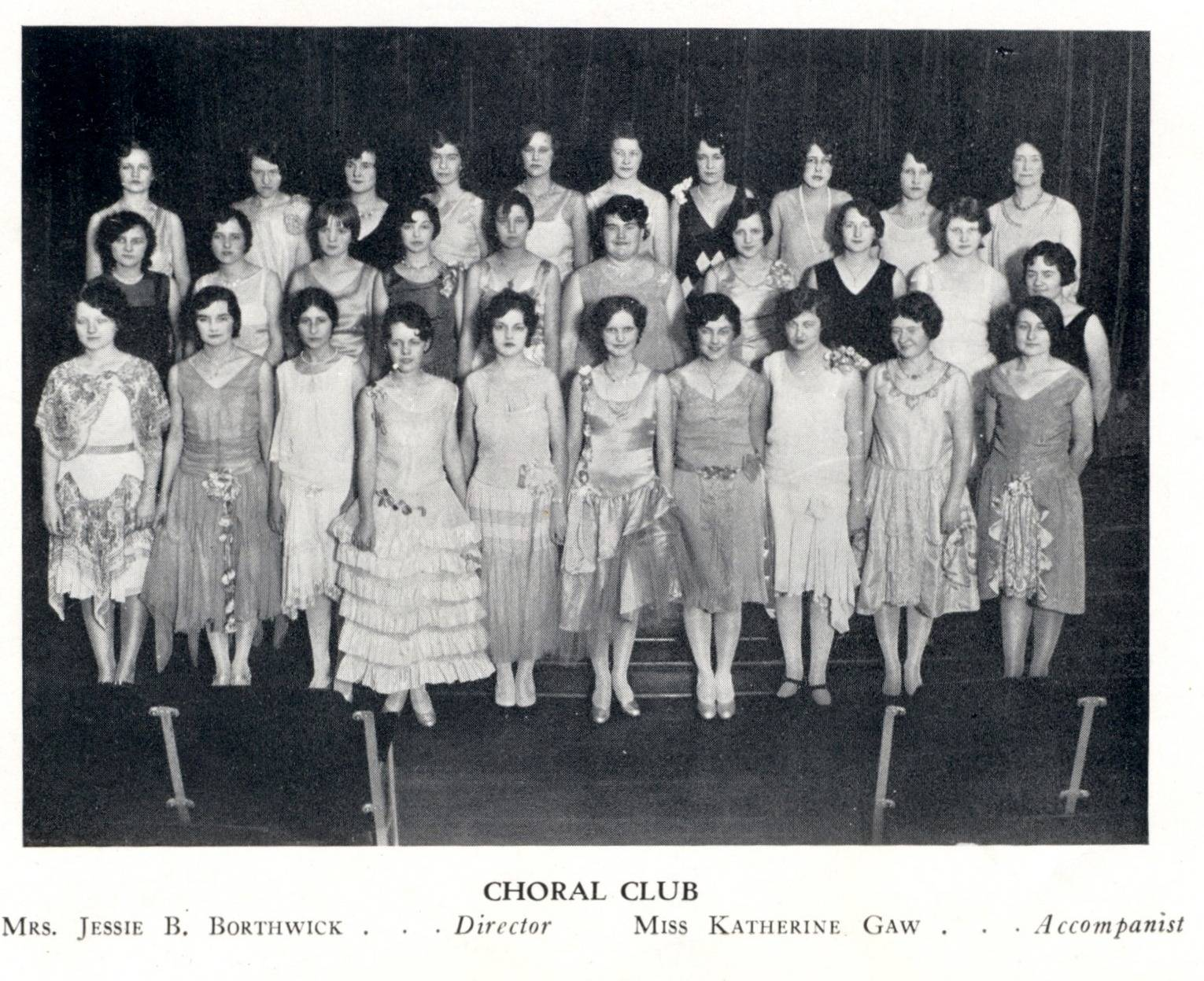Galloway College Choral Club 1930