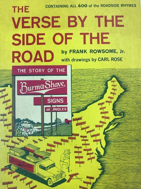 Burma Shave book Verse by the Side of the Road