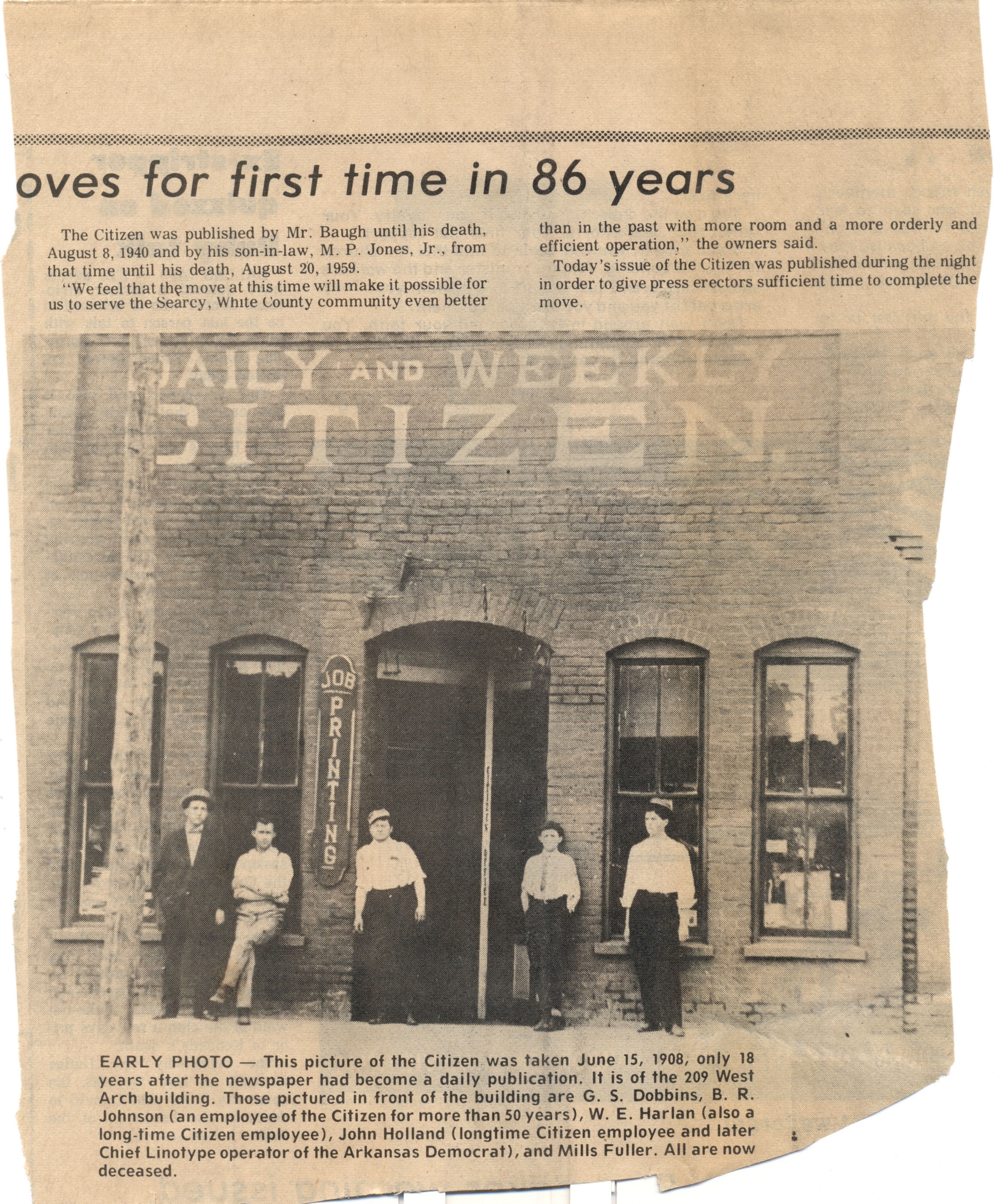 Searcy Daily Citizen old photo