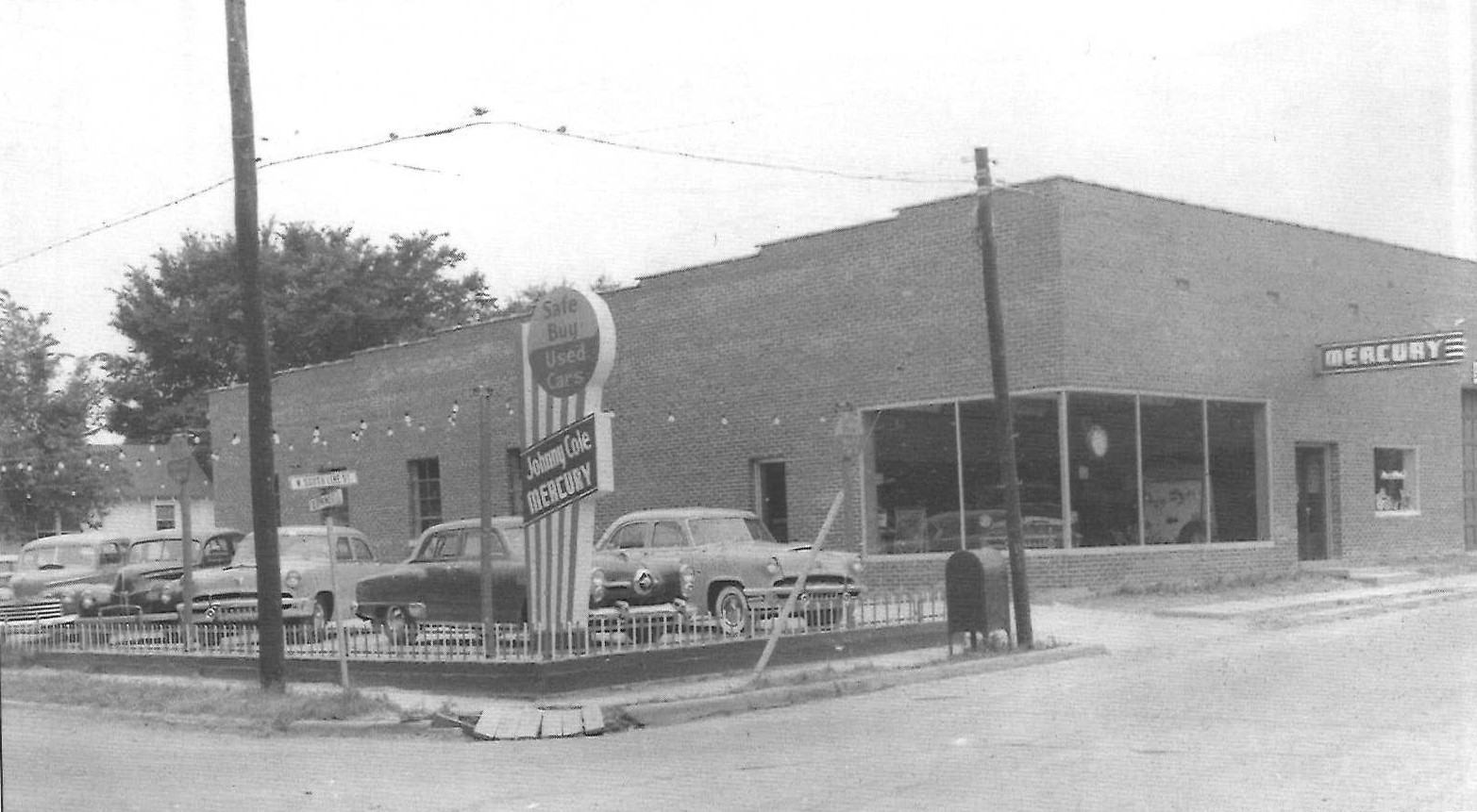 Mercury Dealership 1952 location Searcy AR Woodruff and Spring