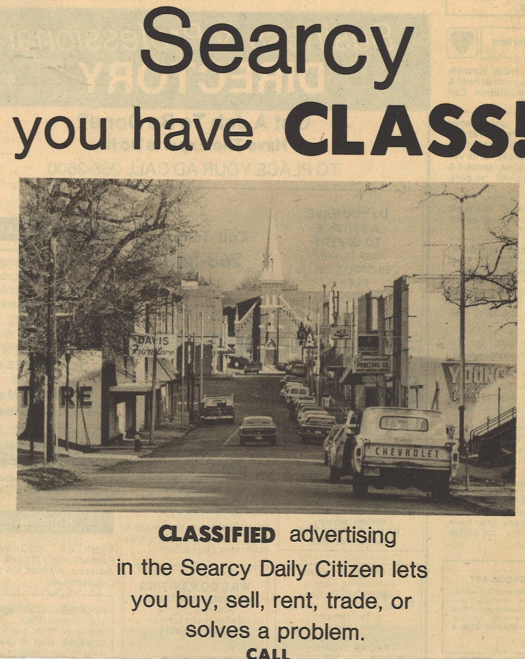 Searcy AR has CLASS Daily Citizen ad old downtown