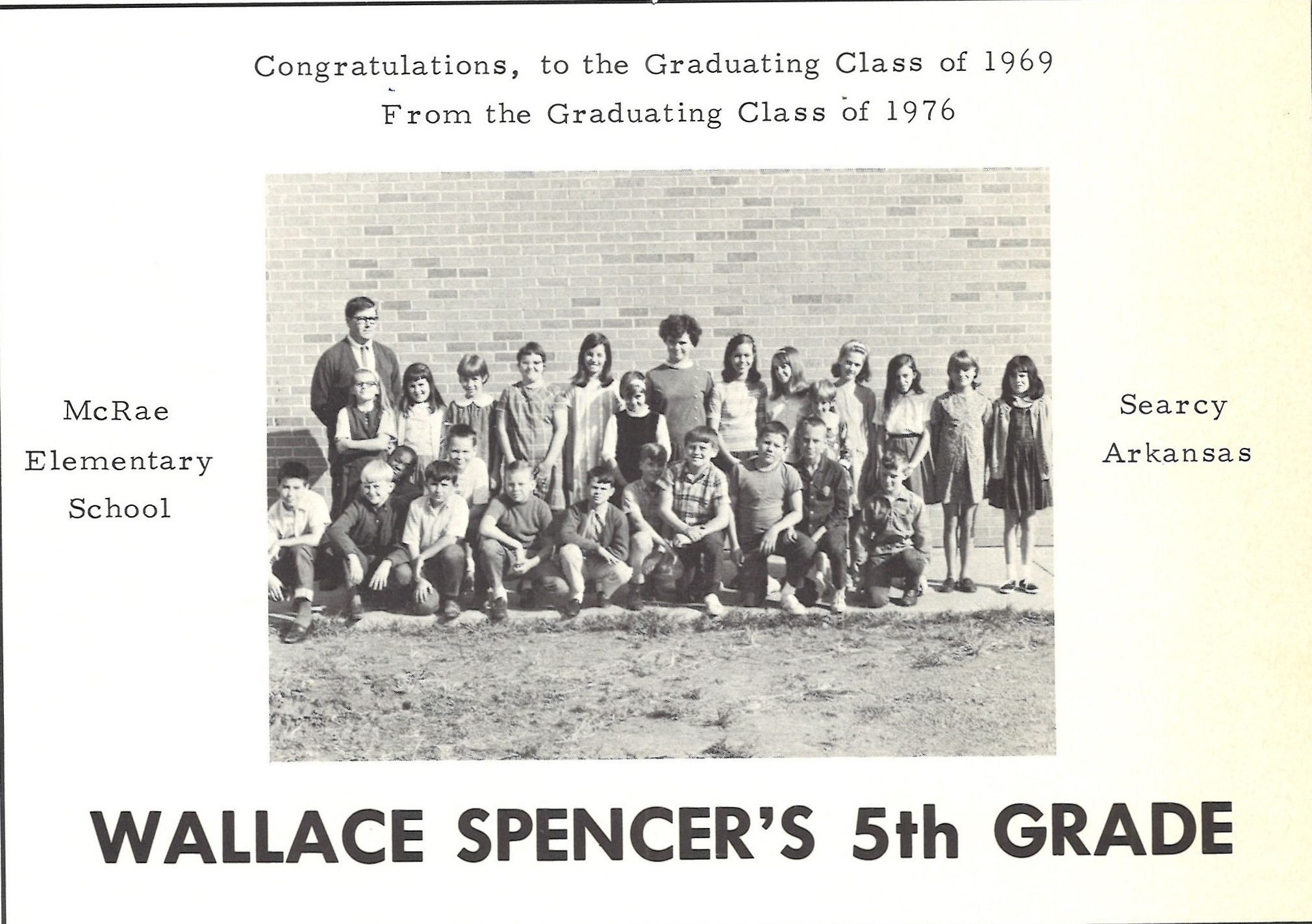 Spencer 5th grade McRae Searcy AR old picture