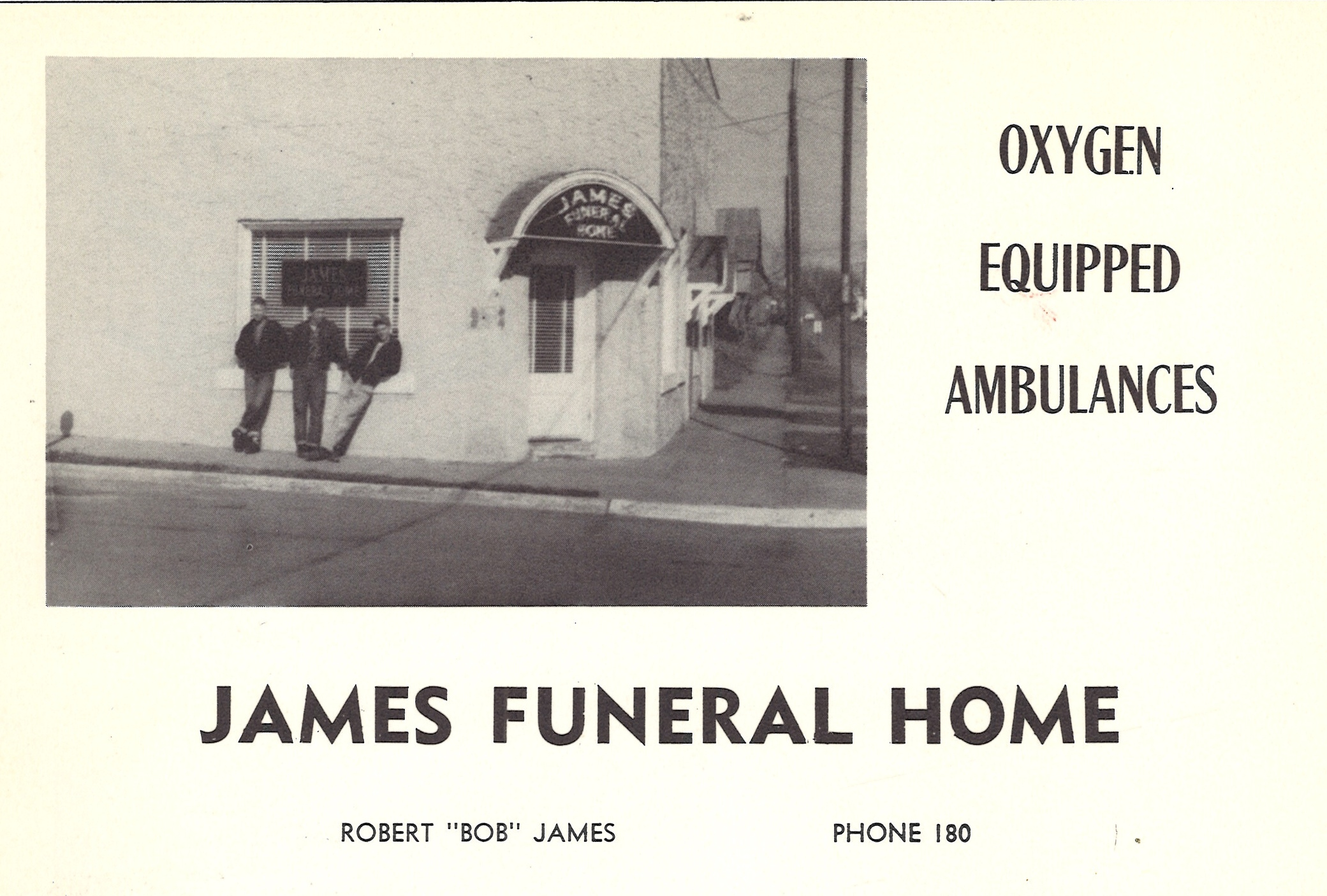 James Funeral Home Searcy AR historic picture 1955