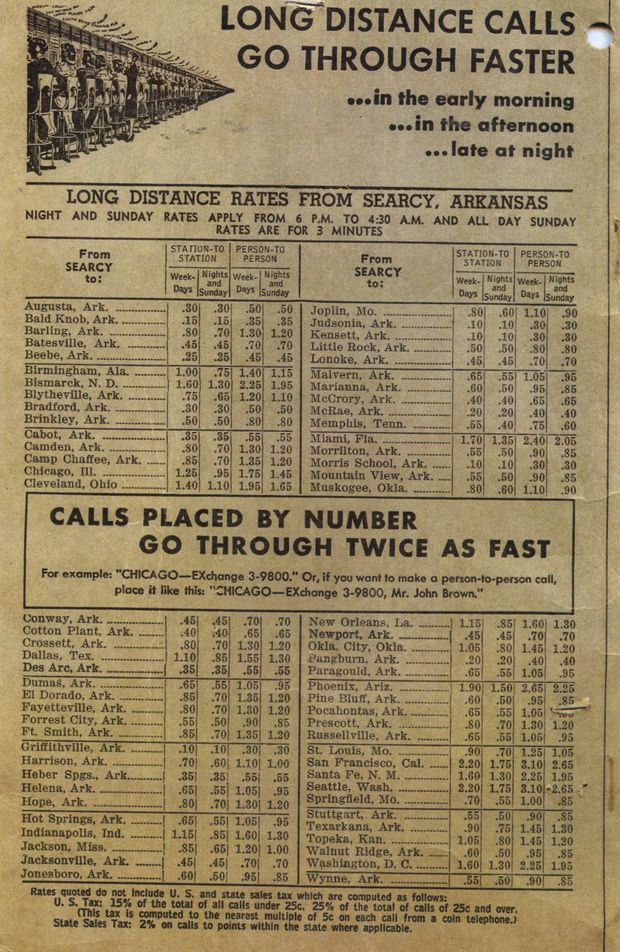 1954 phone calls prices person to person no free ones