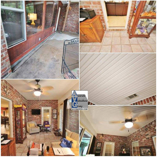 Sunroom listed in MLS as Living Area WAS NOT Living Area