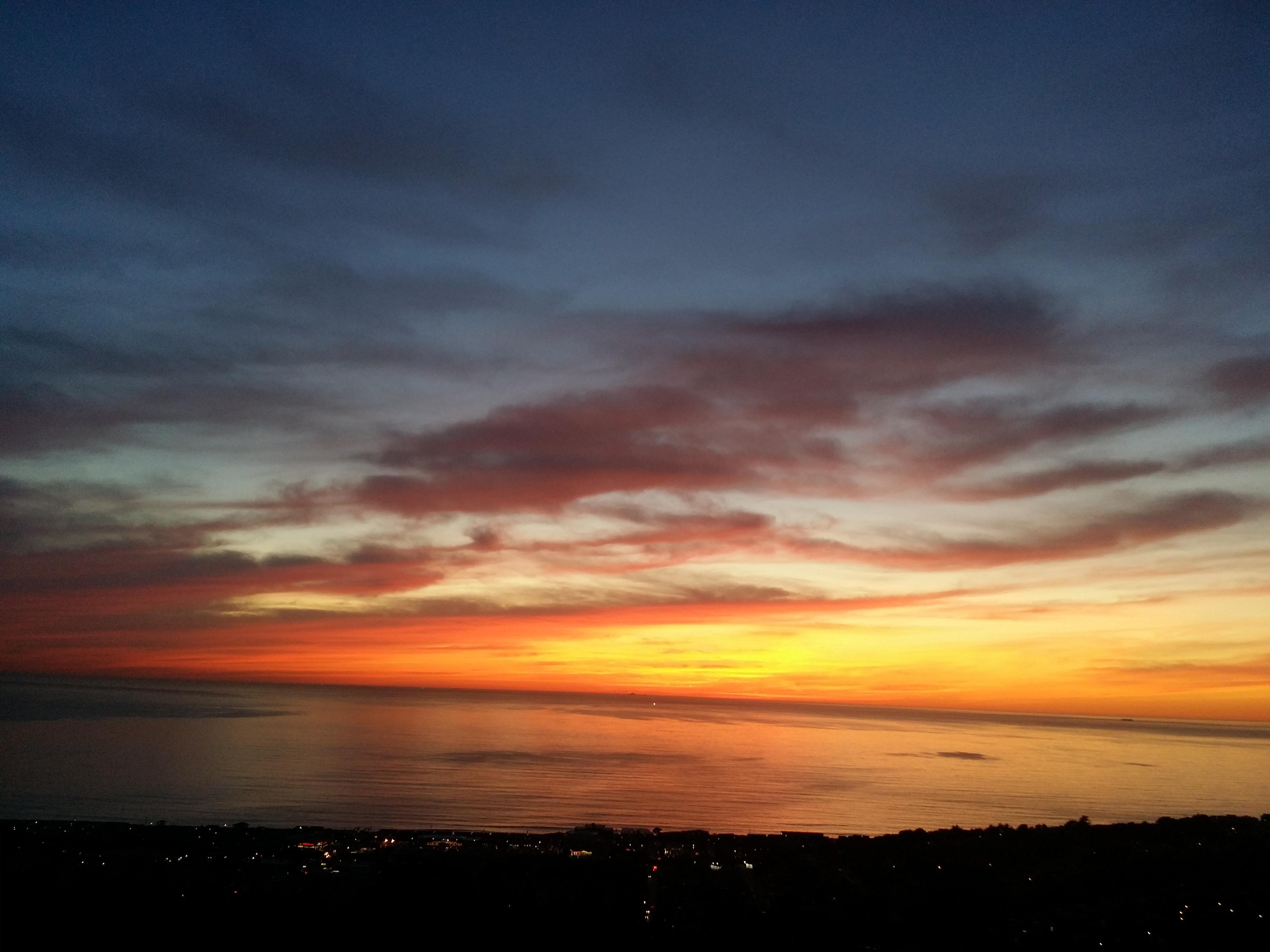 Pacifica, CA Sunset from Westview Neighborhood