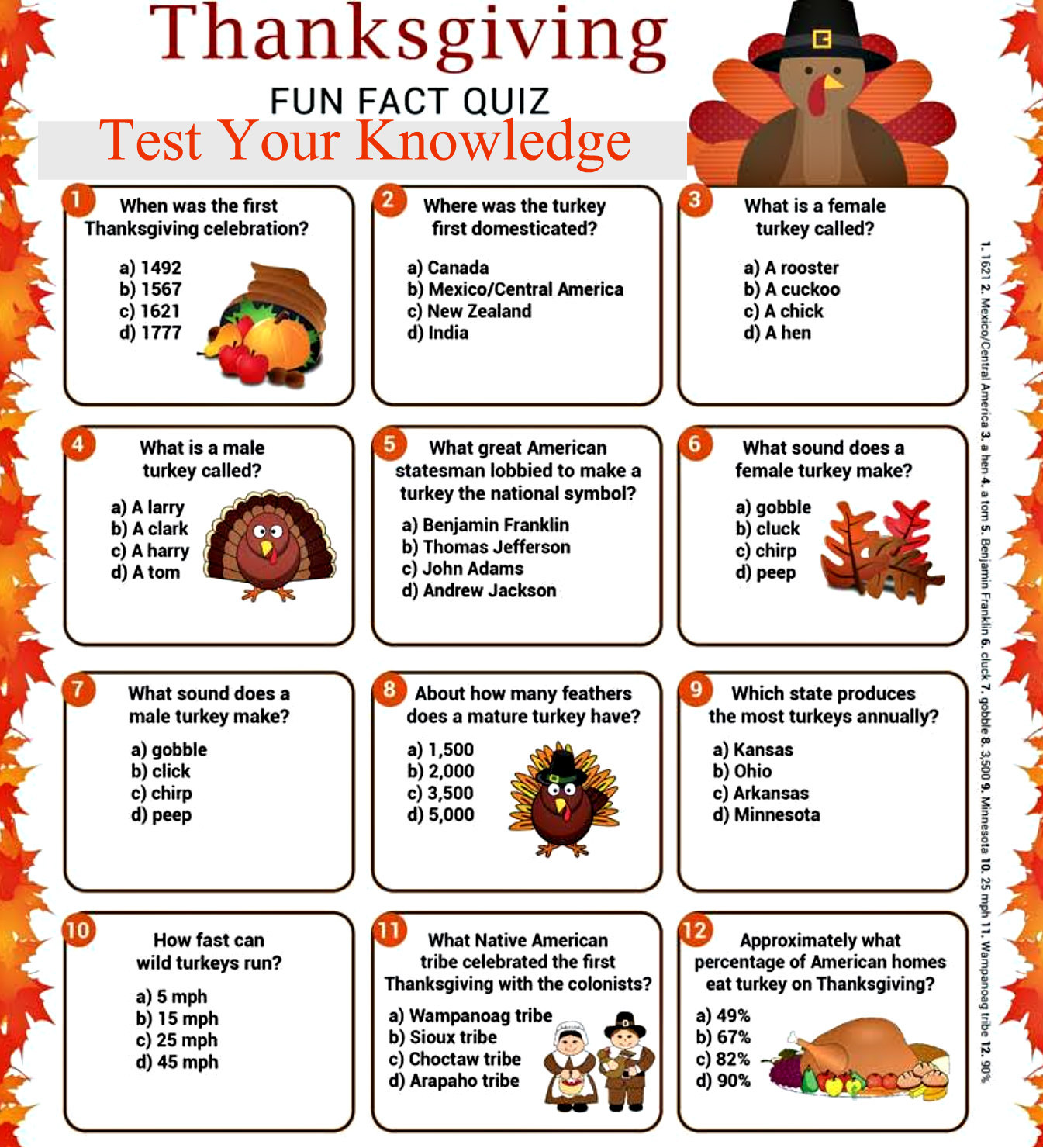 thanksgiving quiz for students