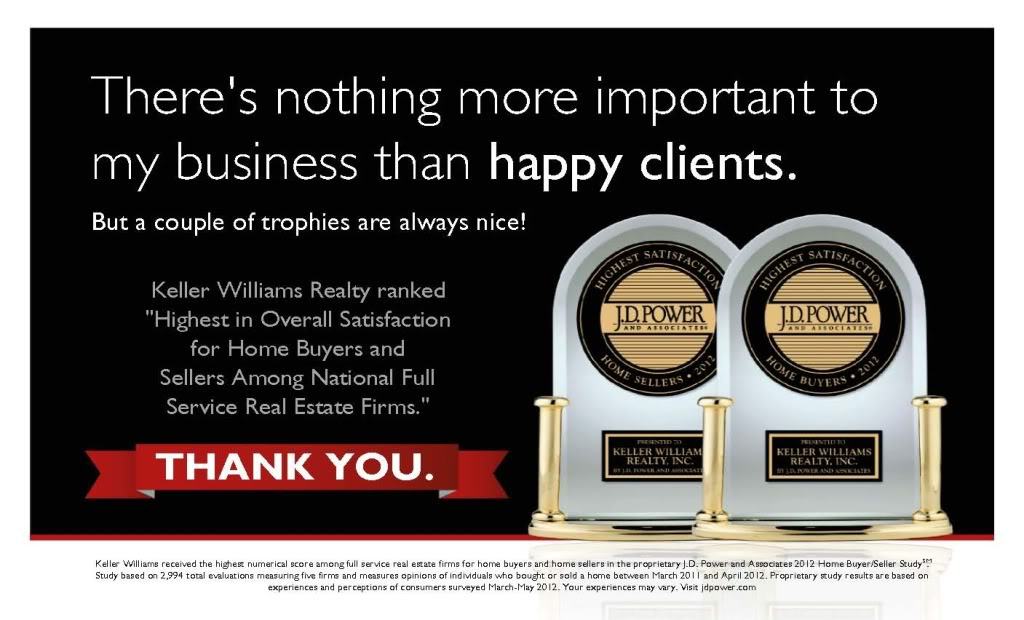 Keller Williams Received JD Powers Awards July 2013
