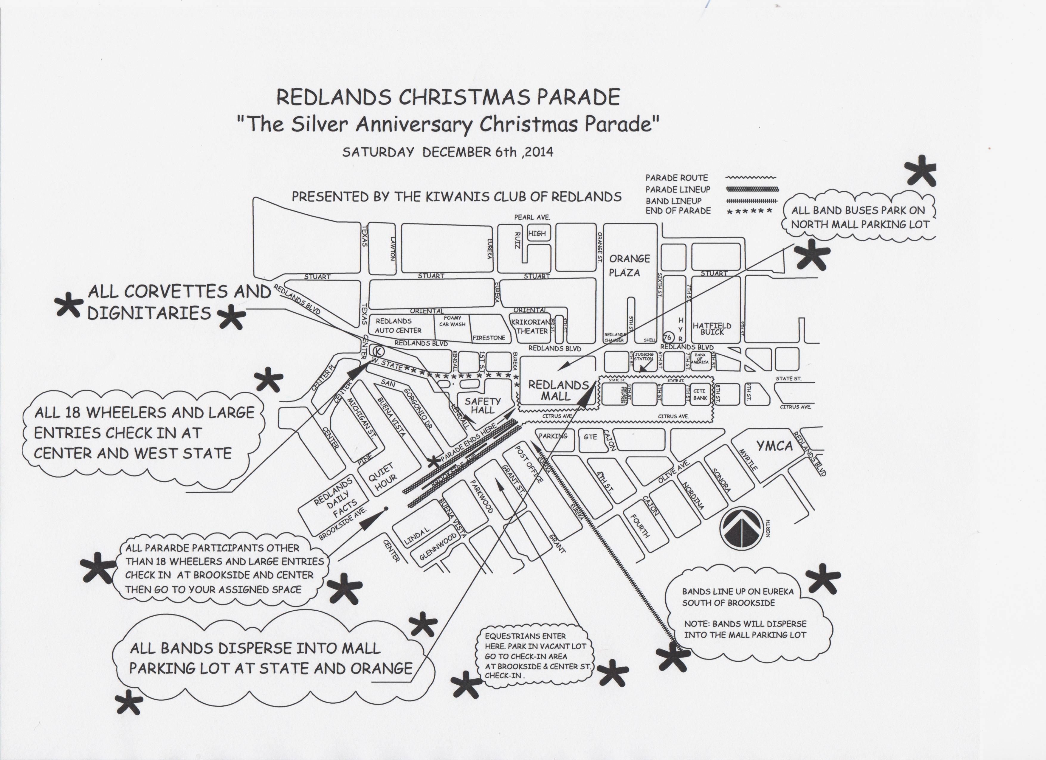 Redlands 'Silver Aniversary' Themed Christmas Parade De