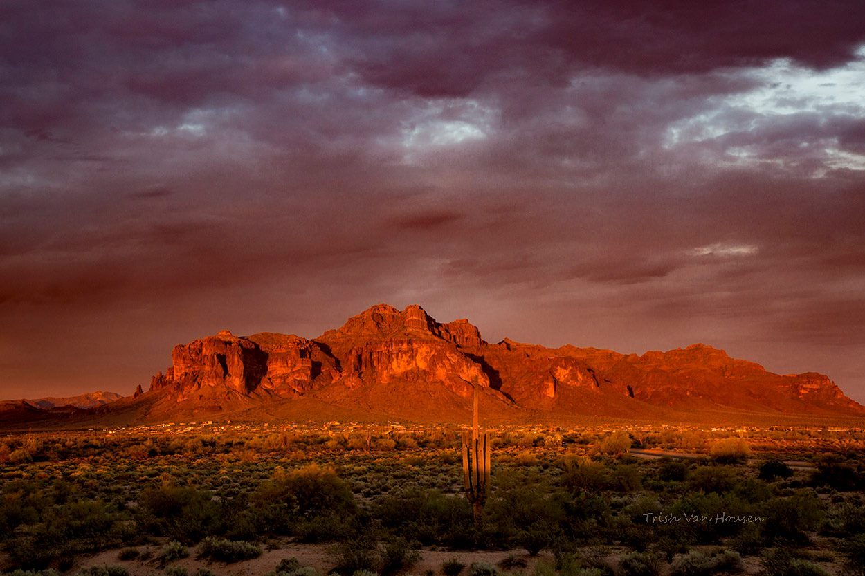 Daily Photo From Trish Superstition Mountain April 2