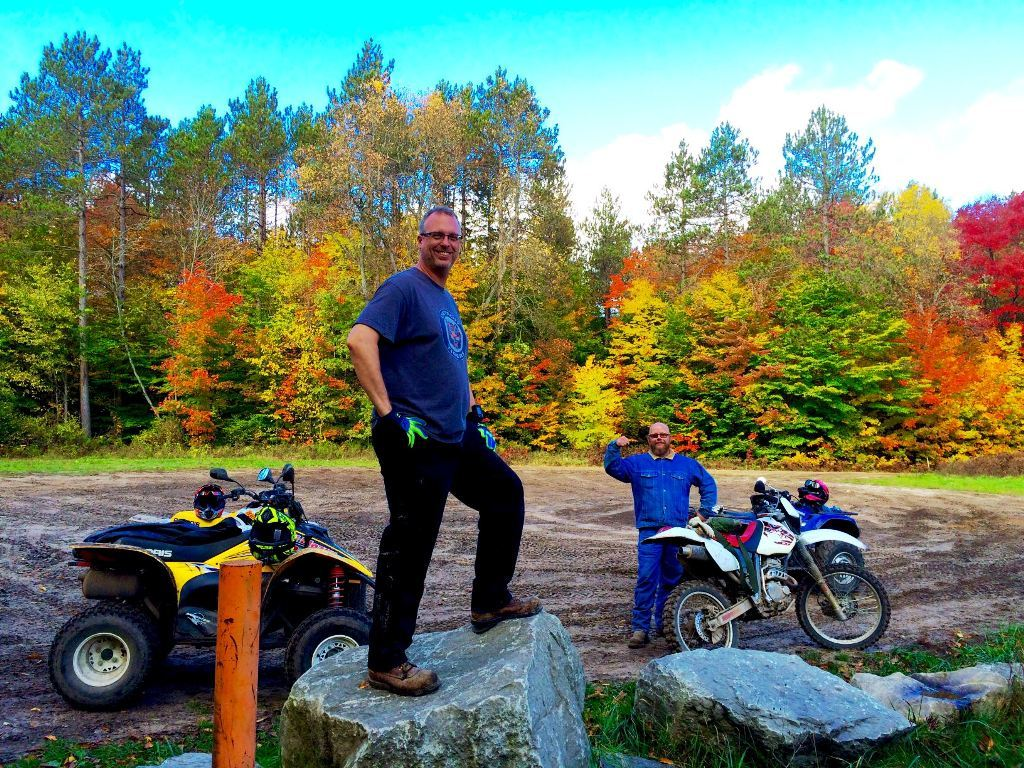 Quad Riding Wolverine Michigan Fall Colors