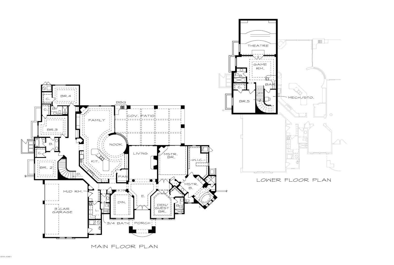 1 995 000 custom home in prestigious whitewing for Custom home floor plans az