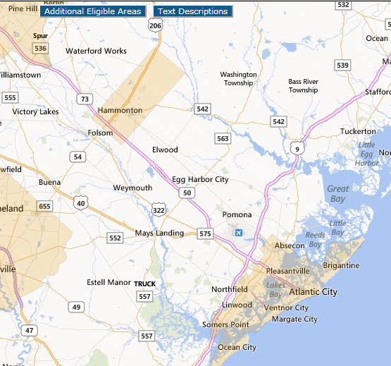 USDA Loan Eligibility Areas To Change In Atlantic County For - Usda financing map