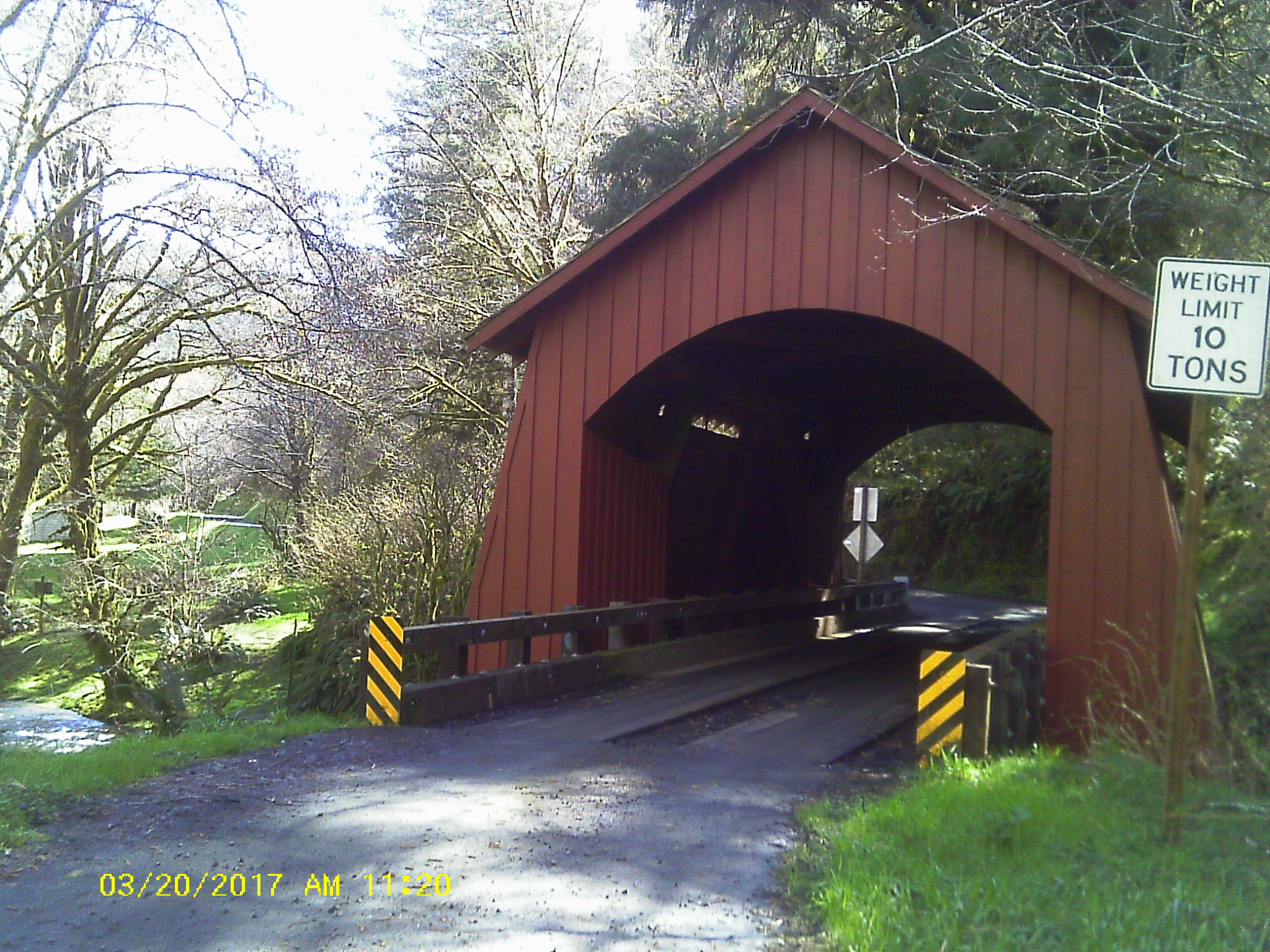 Covered bridge Yachats River Rd.