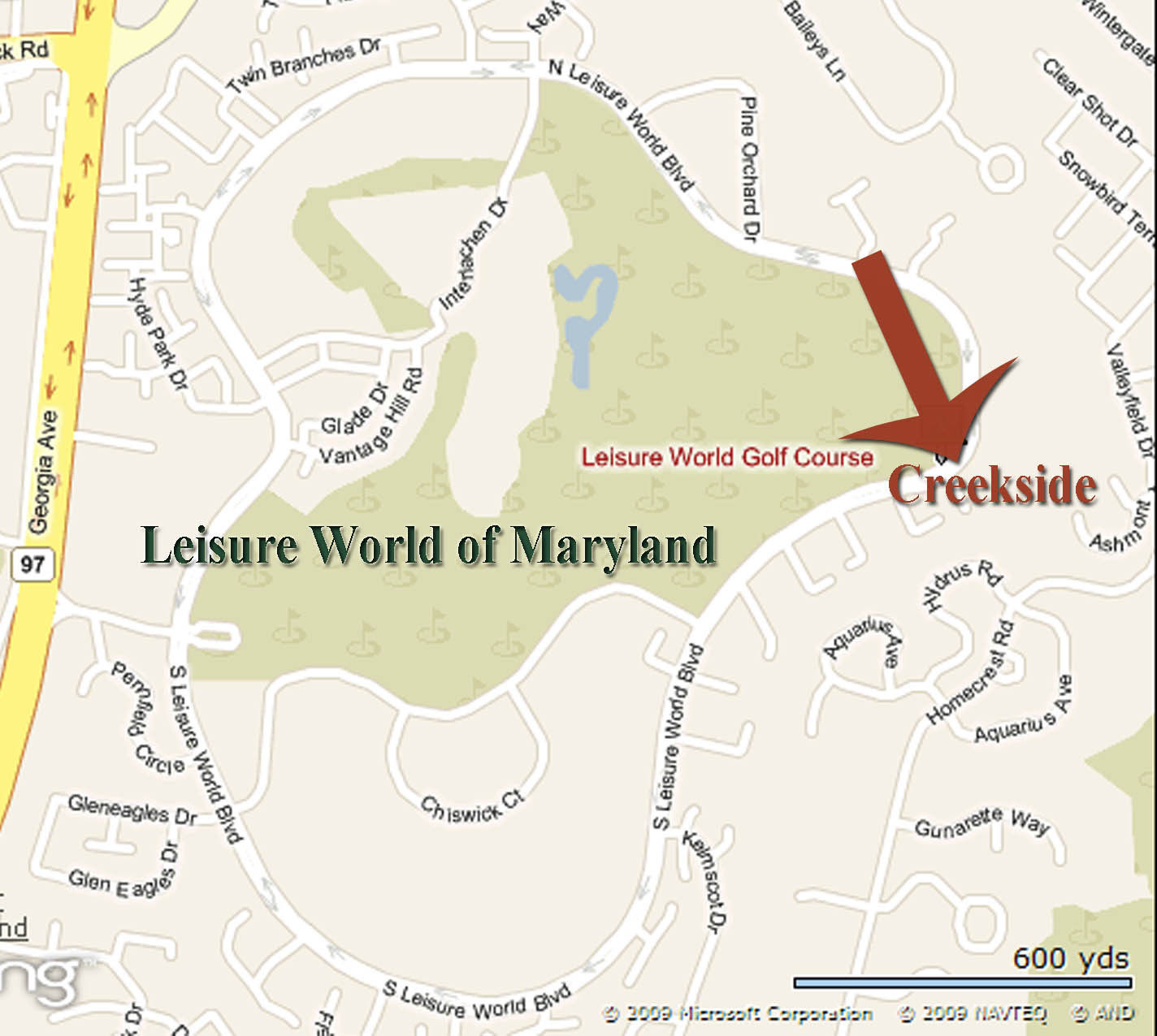 Creekside on Map