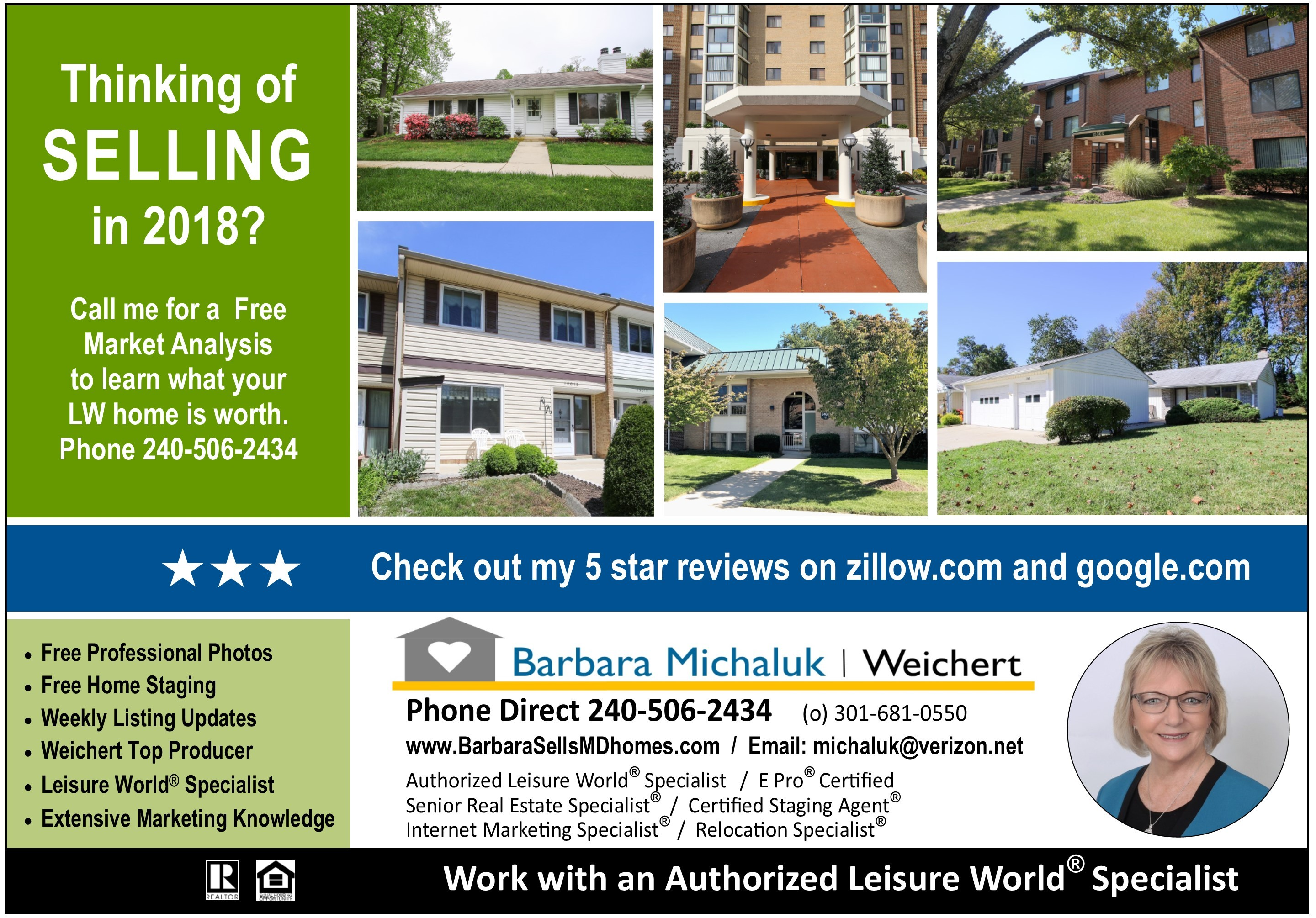 Thinking Of Selling Your Leisure World Home In 2018