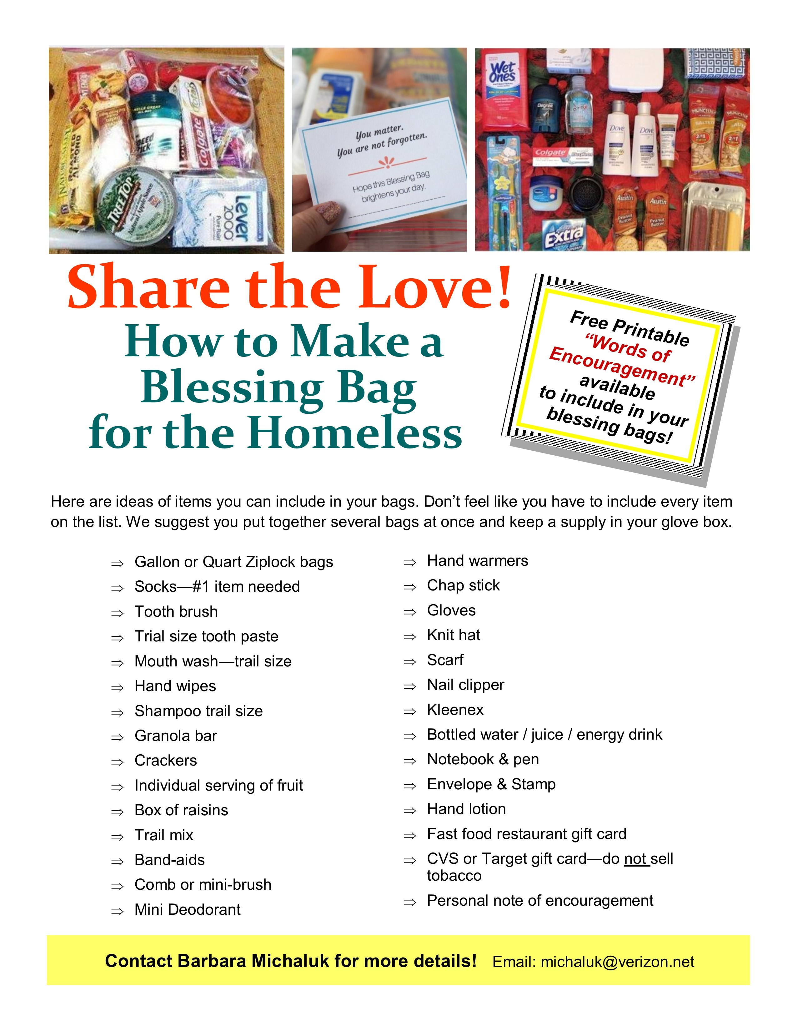 My Blessing Bag Flyer Just Name