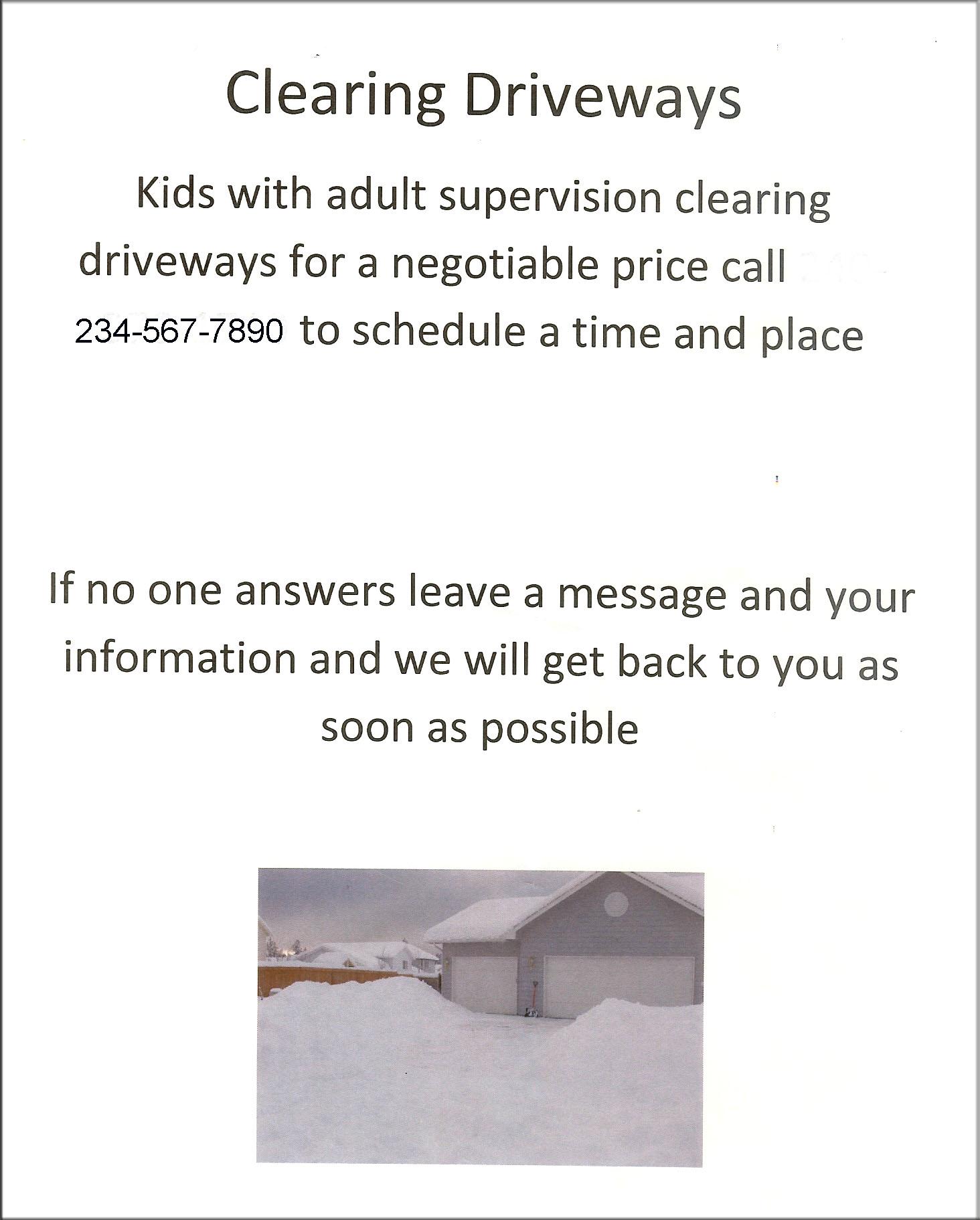 Snow Removal Flyers Peopledavidjoel