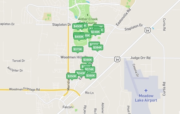 woodmen hills homes for sale
