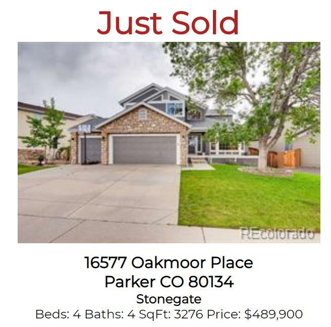 Just Sold Stonegate Parker Home