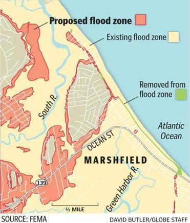 Flood Zones FEMA Maps And Massachusetts Flood Insurance - Flood line map