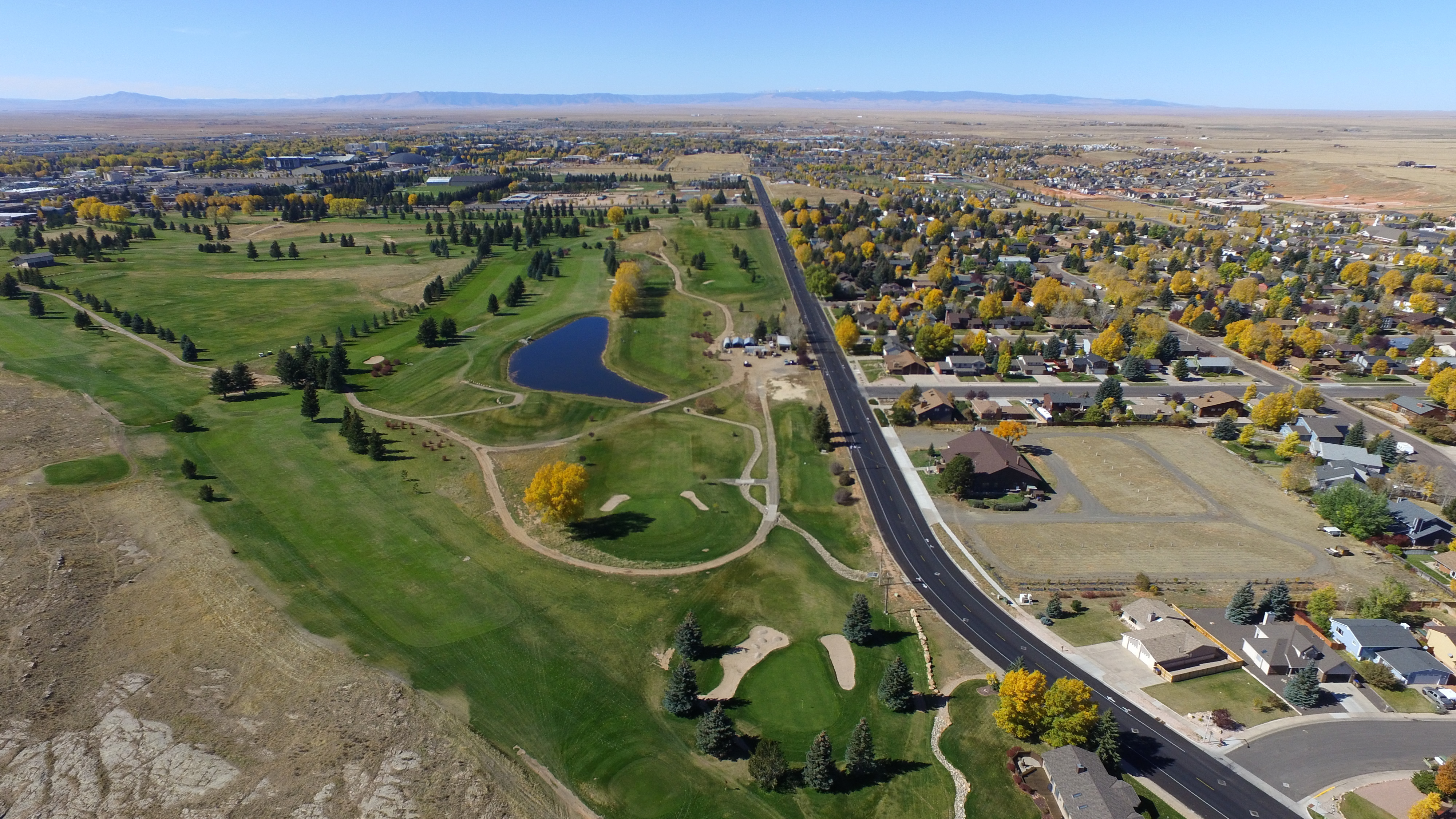 Laramie Wyoming 2016 aerial view from east