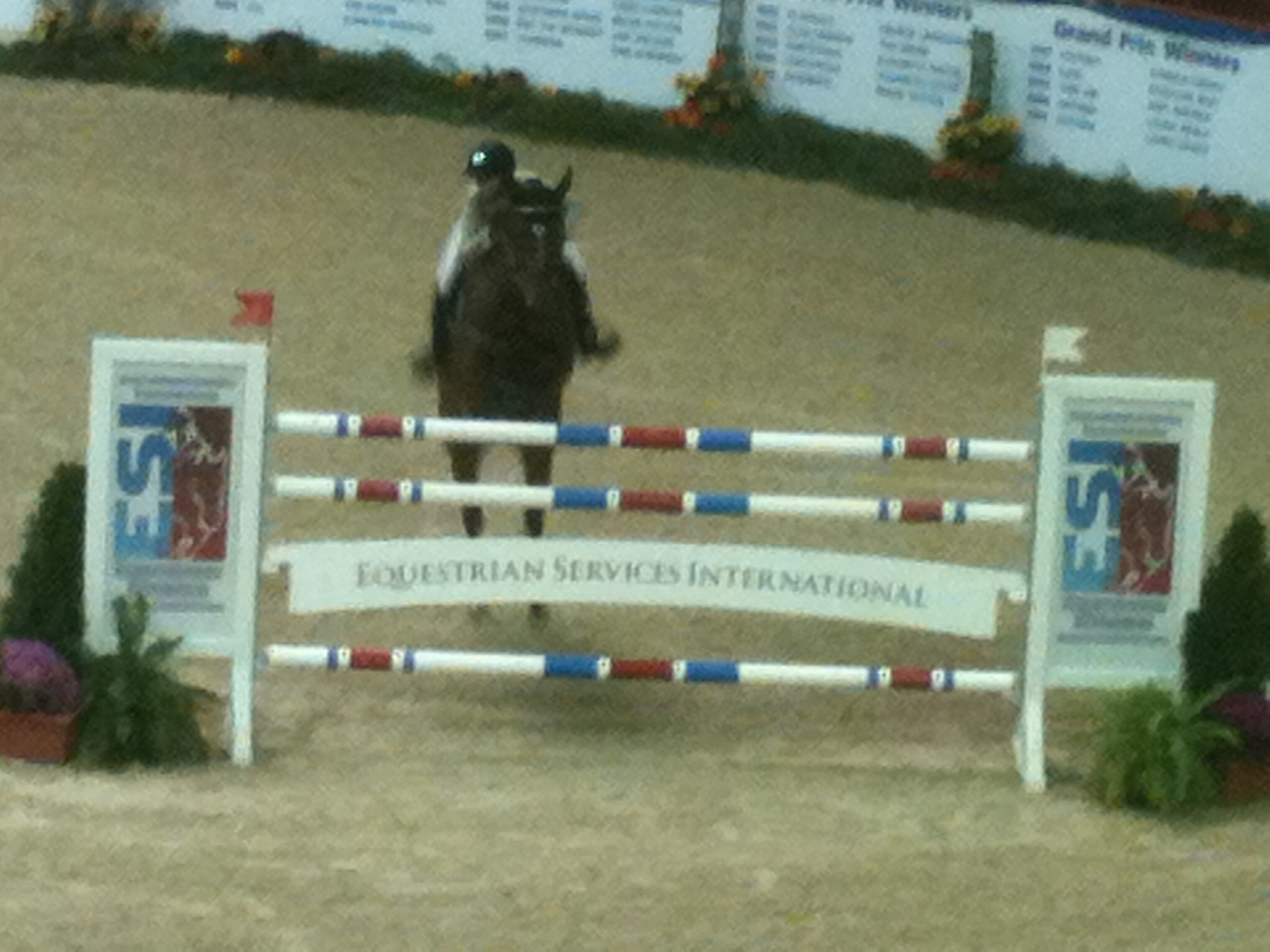 Jumping at the Pennsylvania National Horse Show in Harrisburg