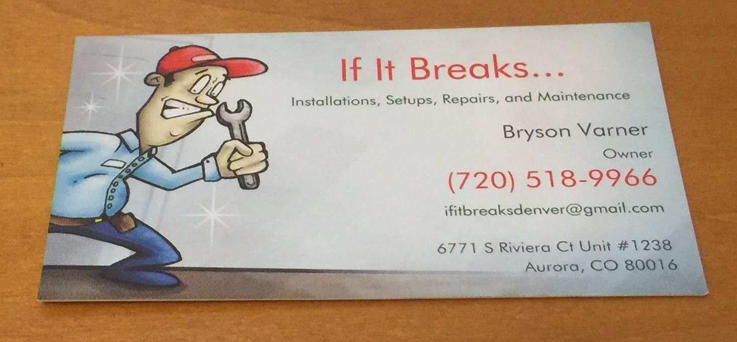 If It Breaks\