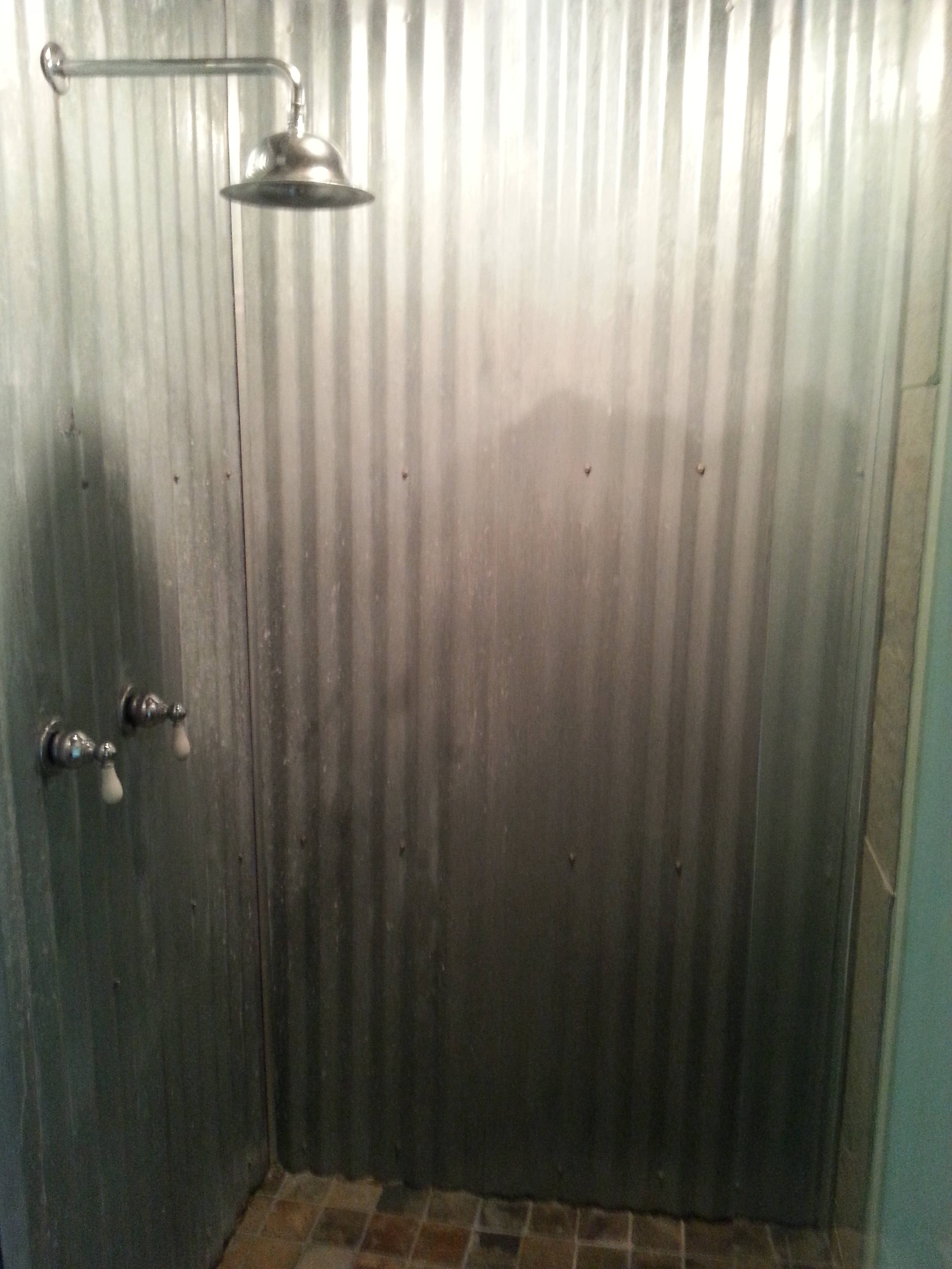 Is unique in a home good or bad for Corrugated iron bathroom ideas