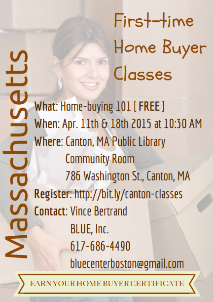 canton ma first time home buyer class