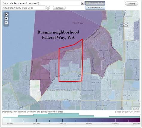 Homes In The Buenna Neighborhood Of Federal Way Washington 03 19 14