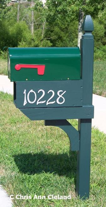 Now my mailbox looks like it did before the accident.