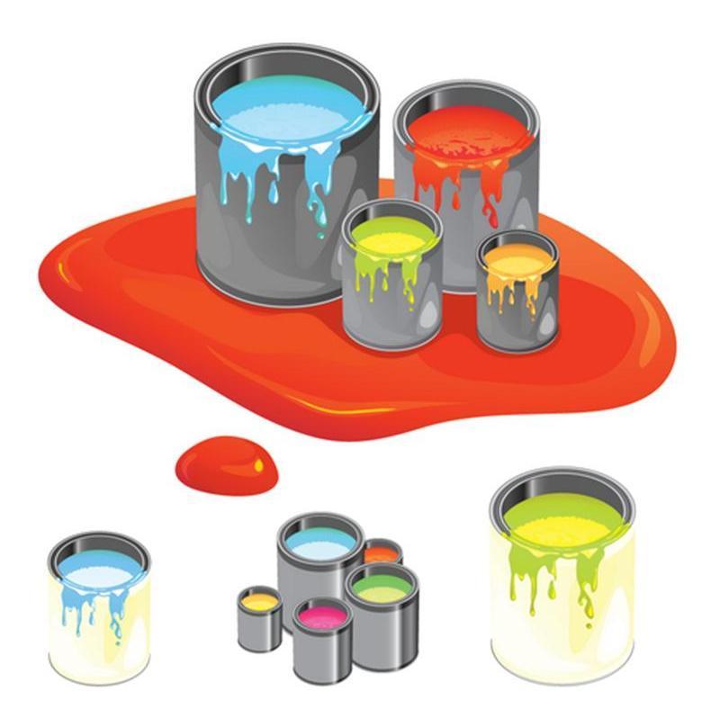 Картинки баночки с красками для детей