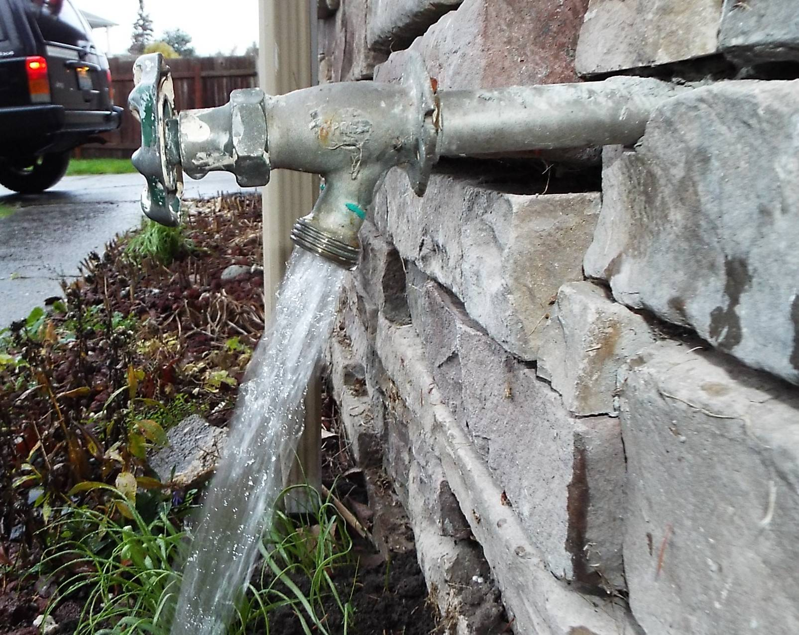 Do you have outside water faucets?