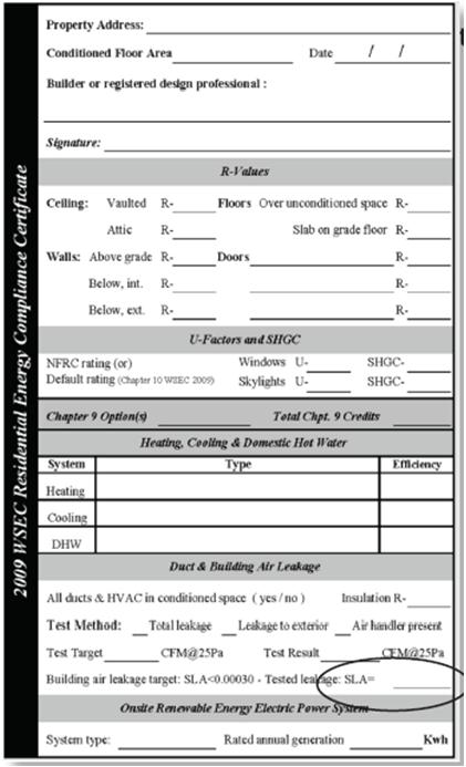 Energy Compliance Sticker