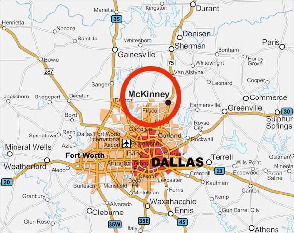 Homes In McKinney In Dallas Texas - Mckinney texas us map