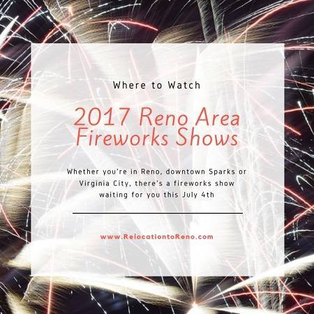 Where will you be watching the 2017 Reno area fireworks shows? Downtown Reno? Victoria Square in Sparks? Virginia City? They all have great events planned!