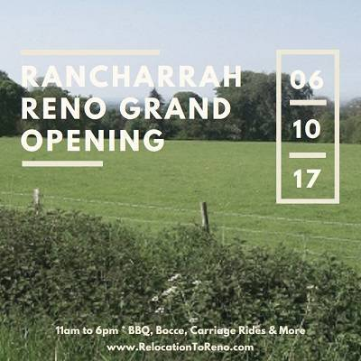 The public is invited to the grand opening of the new Rancharrah Reno on Sat, June 10th. Enjoy live entertainment, BBQ, carriage rides and more.
