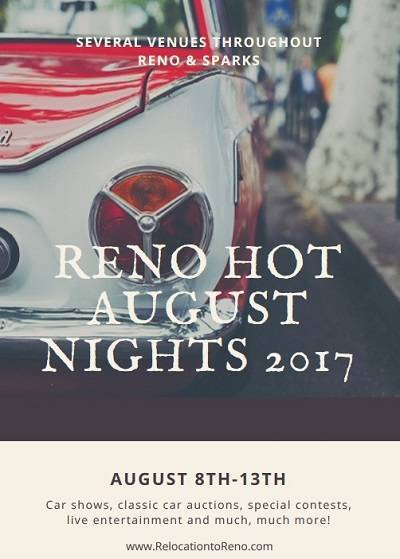 Reno Hot August Nights 2017 brings classic cars, great live entertainment, contests, collector car auctions and much more to the Reno/Sparks area.
