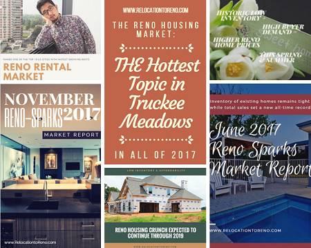 The Reno housing market was THE hottest topic of 2017 here in the Truckee Meadows area of Nevada. Affordability and availability were top buyer issues.