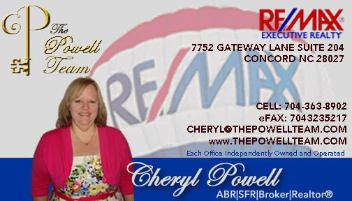 Cheryl Powell- The Powell Team- Remax Executive Realty