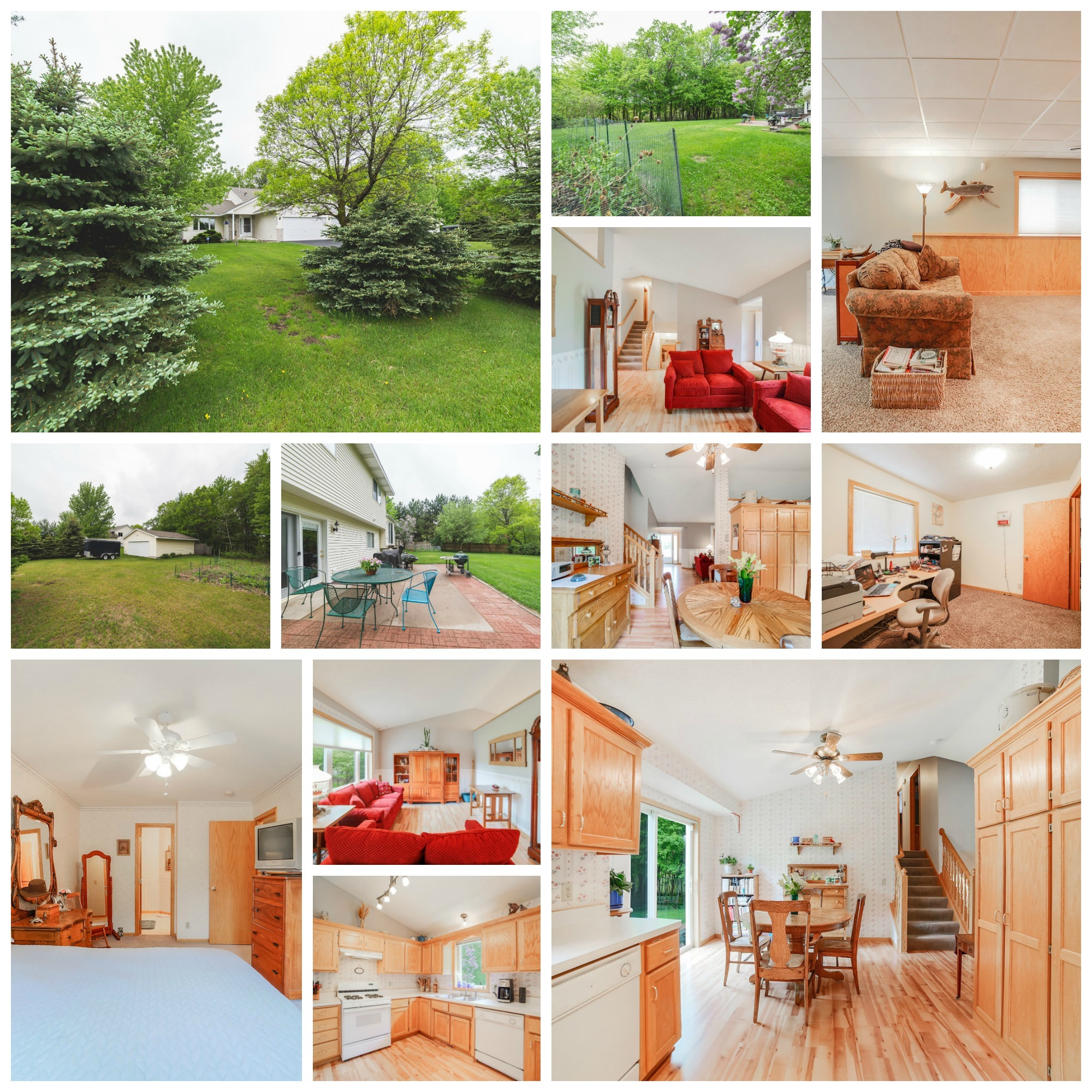 Home for sale on acreage in East Bethel