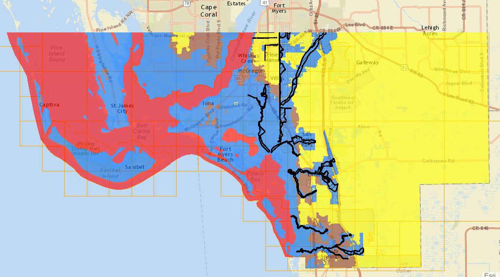Map Of Lee County Florida.Verifying Flood Zones In Lee County Florida