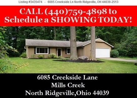 Cleveland OH Homes for Sale- 6085 Creekside Ln- North Ridgeville 44039