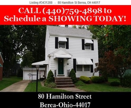 Berea OH Homes for Sale - 80 Hamilton St - Cleveland, OH 440-759-4898