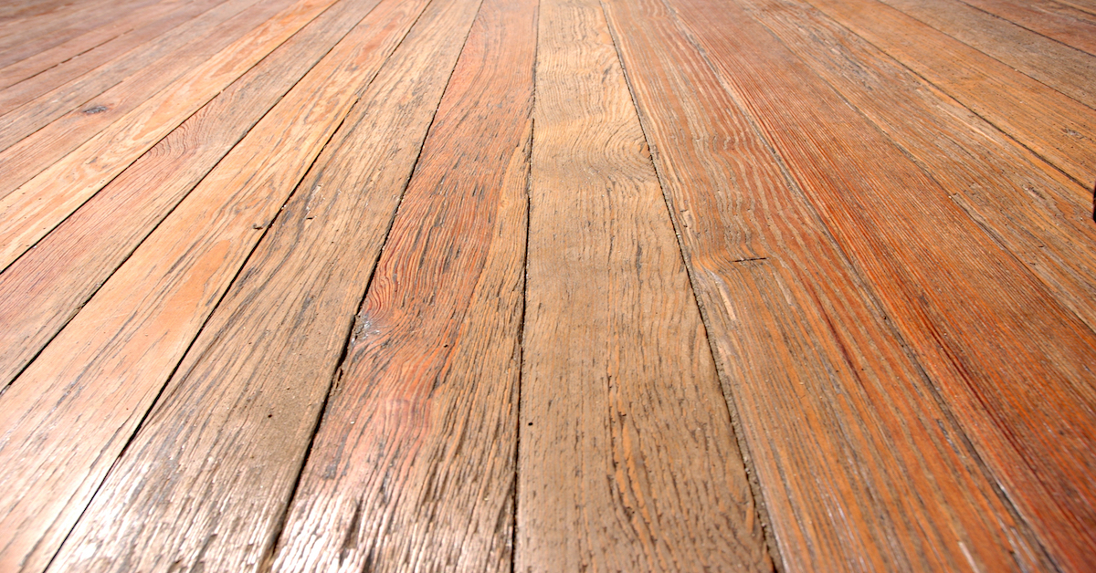 before  refinishing old hardwood floors