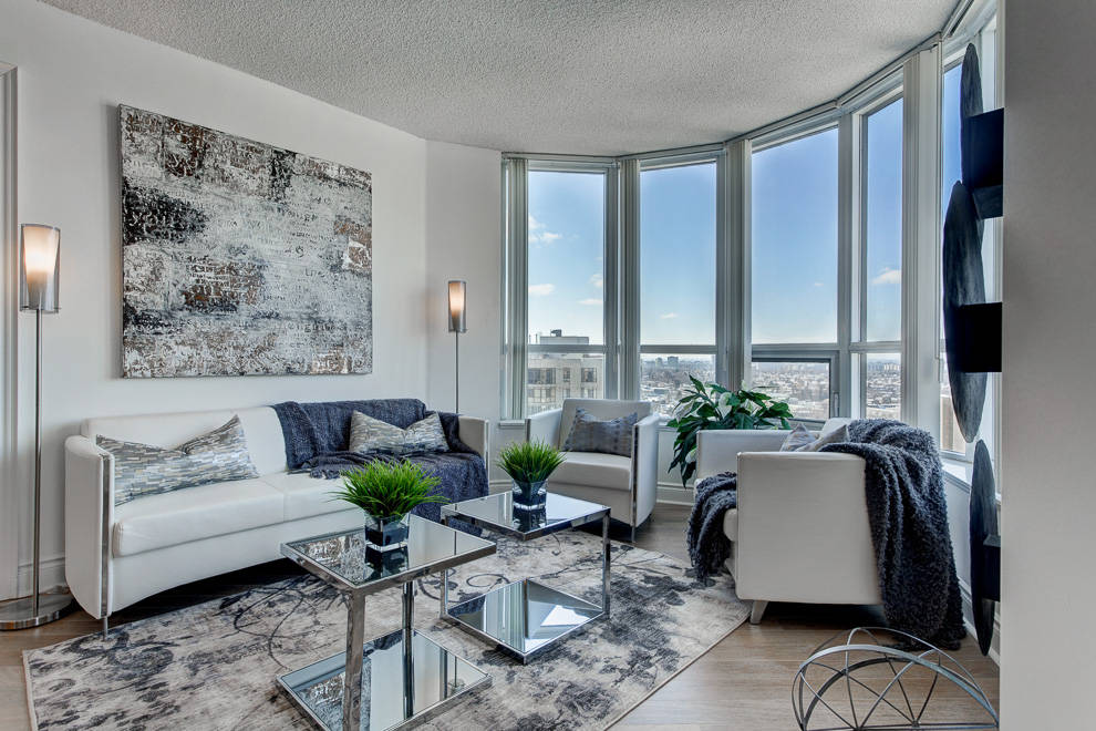 Toronto Condo Staged For Space Living Room