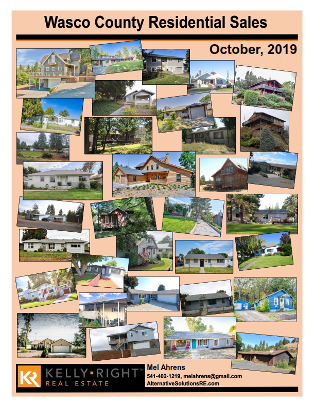 Wasco County Home Sales October 2019